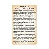 H Holly Lines Holy Mary Untier of Knots Statue