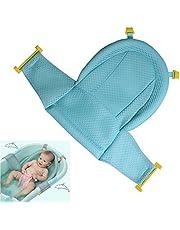 Siege de bain bébé tapis de bain La baignoire antidérapante réglable de douche de bébé s'assoient la maille pour le nouveau-né