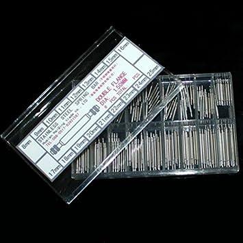 360x Federstege Federstifte Uhrenstifte Edelstahl für Uhr Uhrarmband 8mm 25mm