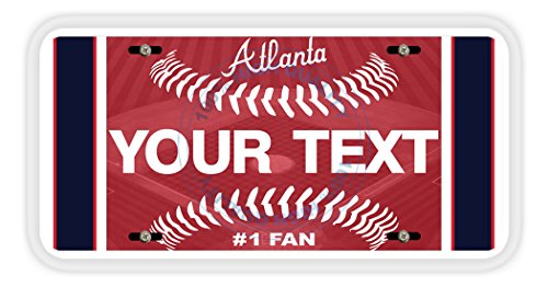 BleuReign(TM) Personalized Custom Name Baseball Atlanta Car Vehicle License Plate Auto Tag