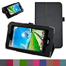 """Acer Iconia B1-770 Case,Mama Mouth PU Leather Folio 2-folding Stand Cover with Stylus Holder for 7"""" Acer Iconia B1-770 Android Tablet,Black"""
