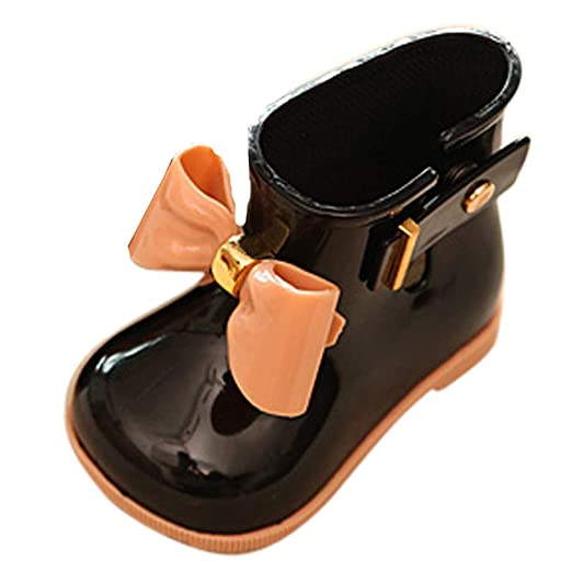 17dd85f482cb Image Unavailable. Image not available for. Color  VEKDONE Toddler Bow Rain  Boot Baby Boys Girls Cute Jelly Shoes