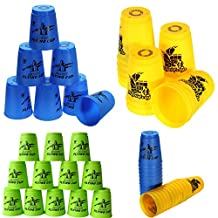 easyshop 12pcs a set Speed Stacks Sport Stacking Flying Rapid Cups Luminous Toy Game