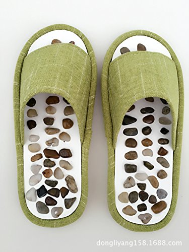 Invernali Hong Da Scarpe Pantofole Jia Naturale brown Con Ciottoli Massaggio Ciabatte XEwd55q