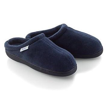 3b4903920 Home-X Memory Foam Slippers. Navy Blue (Small - Fits women s 6½-8½  men s  6-7)
