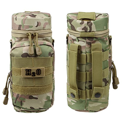 Weize Tactical MOLLE Water Bottle Pouch H2O Pouch Holder Hydration Carrier