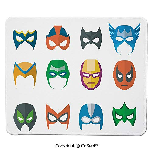 Gaming Mouse Pad,Hero Mask Female Male Costume Power Justice People Fashion Icons Kids Display,Dual Use Mouse pad for Office/Home (15.74
