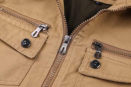 A Cotone Giacca khaki Lunghe Stile Coat Autunno Tempo 2 Uomo Maniche Da Classico Bomber In Libero qHqwfY1E