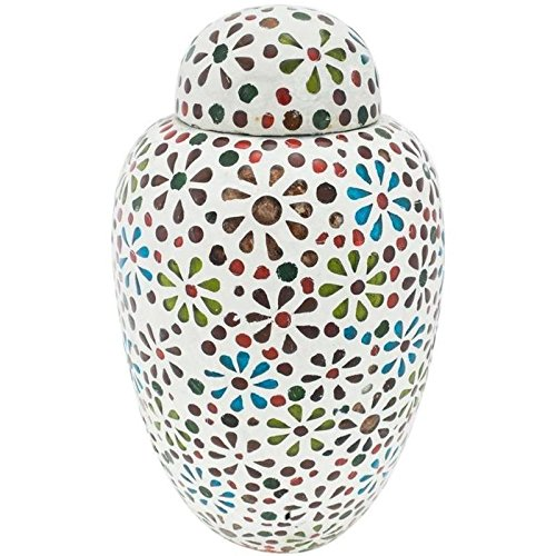 two-4-five Cremation Urns for Human Ashes Full Size Multi Colored Glass Mosaic