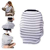 PPOGOO Nursing Cover for Breastfeeding Super Soft Cotton Multi Use for Baby C...