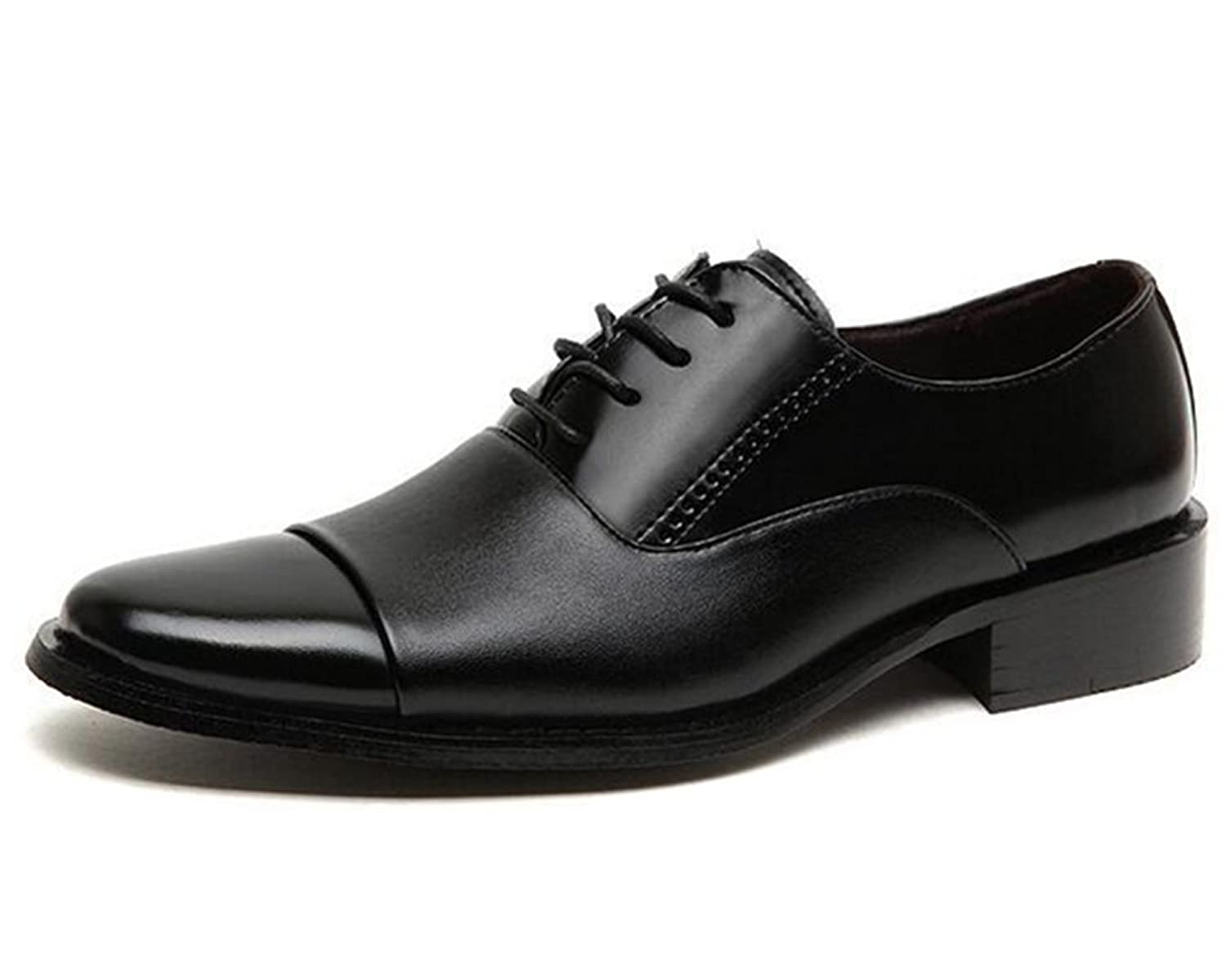 Nyngei Men's Casual Faux Leather Dress Outdoors Lace-up Wedding Oxford Shoes