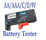HK Universal Battery Tester Cell Volt Checker for 9V 1.5V and Button Cell AAA AA C D BT-168