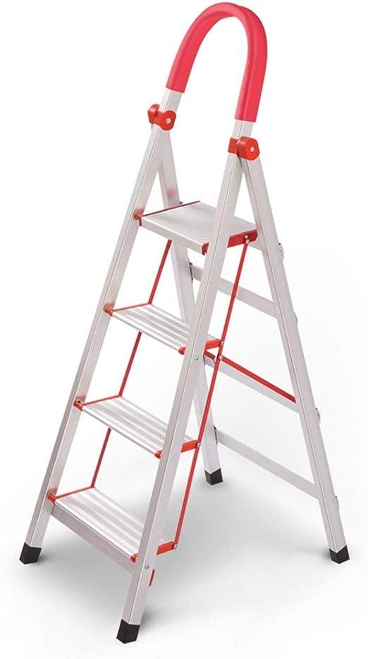 C-J-Xin Exterior de escaleras metálicas, Tres Pasos Cuatro pasos de escalera plegable escalera marco ligero de aleación de aluminio / 39 * 51 * 110cm, 43 * 62 * 132CM Escalera de casa: Amazon.es: Bricolaje y herramientas