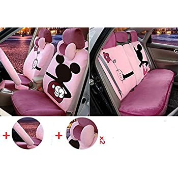 1 Sets The New Plush Cartoon Car Seat Cover Front And Rear Universal Covers M328 M325