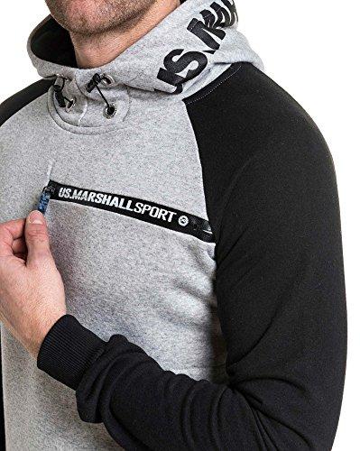 Marshall Capuche À Col Us Gris Montant Logo Sweat w4Odqa