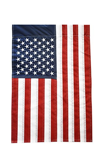 51groups New Embroidered Stars American Flag, Weatherproof USA Flag, Show United States Patriotic Support, Small Banner, 12 W x 18 L