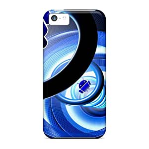 First-class Case Cover For Iphone 5c Dual Protection Cover Android Logo 4