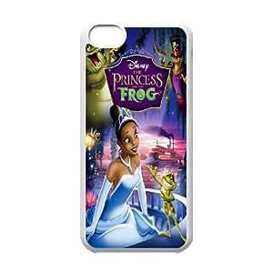 Princesa y el caso del teléfono celular del funda iPhone de la rana 5c funda Q6Q5FFFVKG blanco