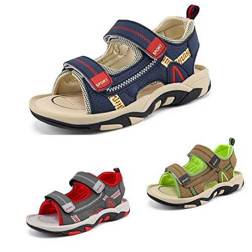 Sawimlgy Boys Girls Adjustable Straps Casual Sport Water Sandals Outdoor Hiking Shoes (Toddler/Little Kid/Big Kid)