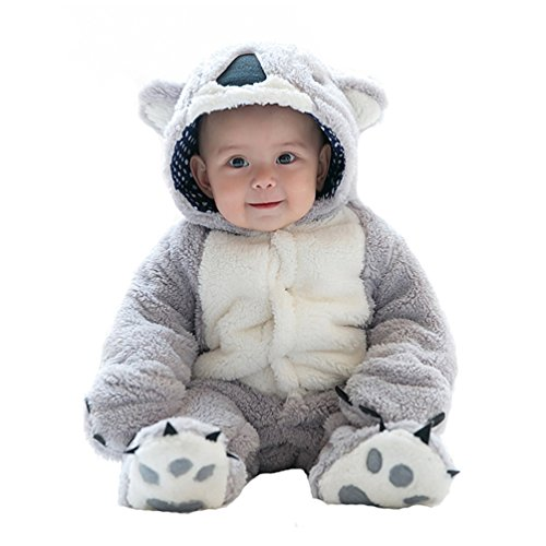 Unisex Baby Romper Winter and Autumn Hoodie Jumpsuit