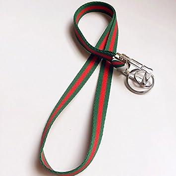 Rayas Cuello Cordón Cadena de clave (con 2 llaveros ...