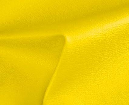 HAPPERS 0,50 Metros de Polipiel para tapizar, Manualidades, Cojines o forrar Objetos. Venta de Polipiel por Metros. Diseño Solar Color Amarillo Ancho ...