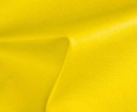 HAPPERS 1 Metro de Polipiel para tapizar, Manualidades, Cojines o forrar Objetos. Venta de Polipiel por Metros. Diseño Solar Color Amarillo Ancho ...