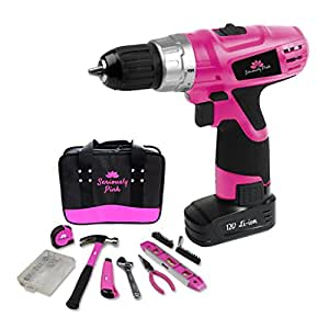 SP12V121PKT- SERIOUSLY PINK 12V LITHIUM ION DRILL/DRIVER AND HAND TOOL ESSENTIAL KIT