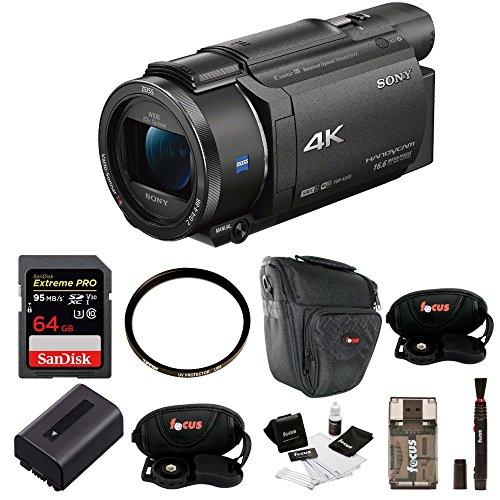 Sony FDR-AX53 UHD 4K Handycam Camcorder w/ 64GB Accessory Bu