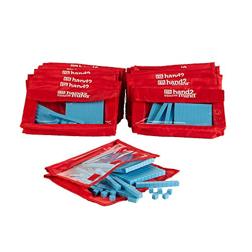 - hand2mind Blue, Plastic, Base Ten Blocks, Math Manipulatives, Bulk Kit (Set of 30)