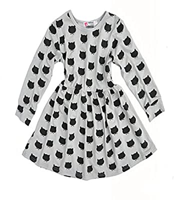 Jastore® Little Kids Girls' Long Sleeve Cat Dotted Princess Dress Skirt Party