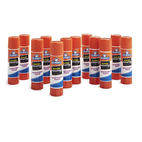 Stick School (Elmer's Disappearing Purple School Glue, Washable, 12 Pack)