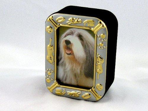 (BEARDED COLLIE Dog Frame Trinket Box New 003 )