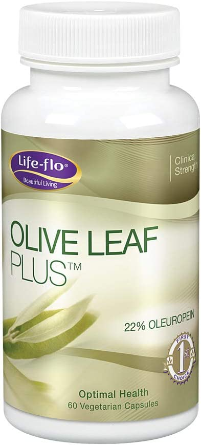 Life-Flo Olive Leaf Plus | Olive Leaf Extract W/ 22% Oleuropein | for Healthy Immune Function, Energy & Vitality Support | No Gluten | 60 Veg Caps