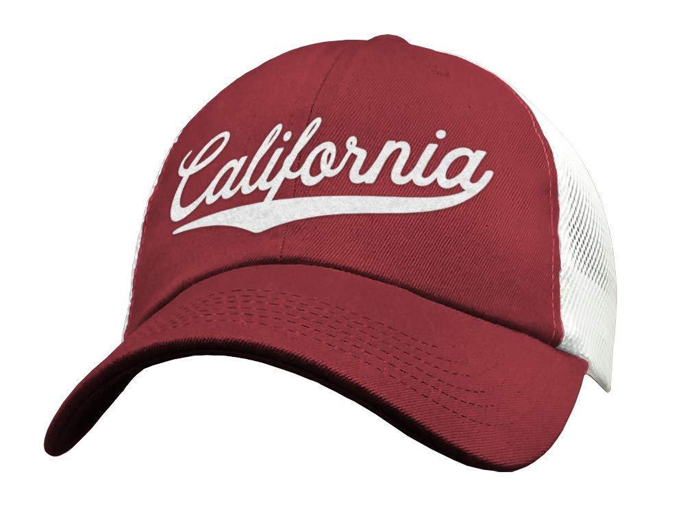 b78864e6e2360 Amazon.com  State of California Trucker Hat Baseball Cap - Sports Snapback Mesh  Low Profile  Handmade