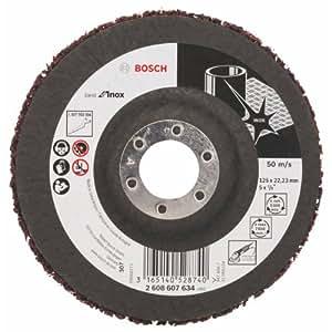 Bosch 2 608 607 634  - Disco pulidor - 125 mm, 22,23 mm, ALOX, 7650 U/min (pack de 1)