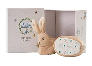 Image of: Cute Image Unavailable Amazon Uk Rainbow Designs Peter Rabbit Babys First Booties Gift Set