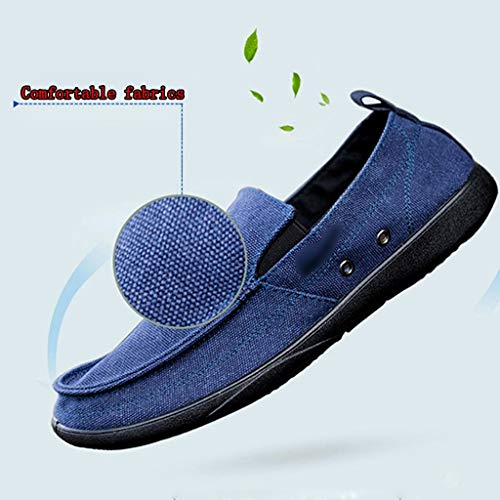 da uomo Blue tela scarpe casual denim Color 46 selvaggia scarpe di scarpe di uomo tela WangKuanHome Size Blue Scarpe tendenza da estiva 71YOnq