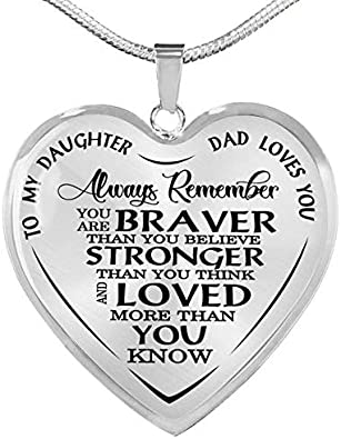 Dad We Love You Pendant Necklace in 14K Gold Over Sterling Silver