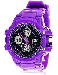 Women's EVWF005PU Purple Rubber Watch