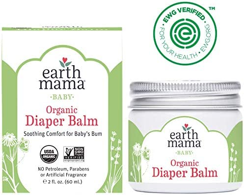 51hmPOci L. AC - Organic Diaper Balm By Earth Mama | Safe Calendula Cream To Soothe And Protect Sensitive Skin, Non-GMO Project Verified, 2-Fluid Ounce