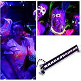 U`King LED UV Black Light 3Wx12 LED Bar Wall Washer Lighting for Parties Halloween Club Metal Housing