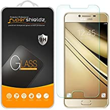 [2-Pack] Supershieldz for Samsung Galaxy C7 Tempered Glass Screen Protector with Lifetime Replacement Warranty