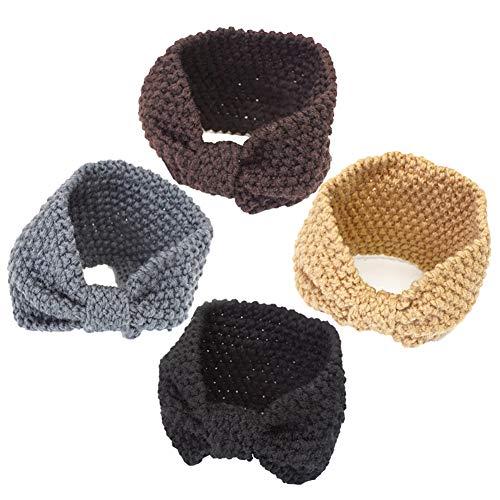 4 Pack Winter HeadbandsBow...