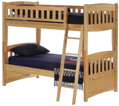 Night & Day Cinnamon Twin Over Twin Bunk Bed Natural Finish