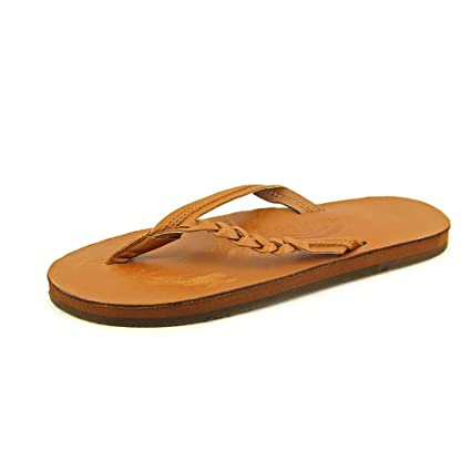 fe908588737d Image Unavailable. Image not available for. Color  Rainbow Sandals 301  ALTSB Womens Braided Flirty Braidy Classic Tan Large