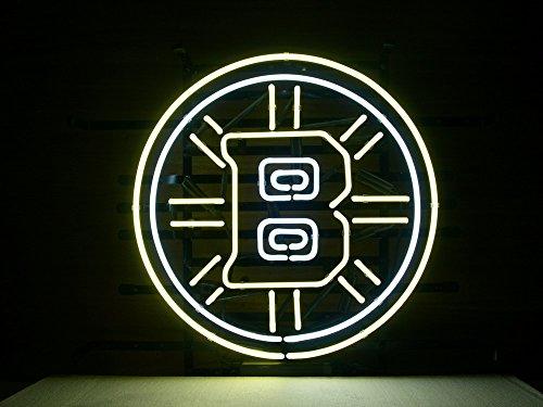 "Desung 20""x20"" Boston Sports Team Bruin Neon Sign (MultipleSizes) Man Cave Sports Bar Pub Beer Glass Light Lamp CX54"