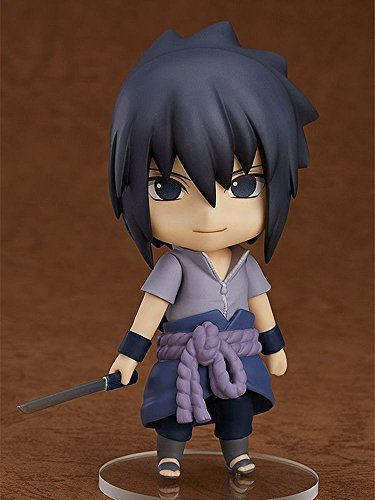 Nendoroid Pvc Figure (OIVA Naruto Shippuden Mini Figure Changing Face Posture Painted PVC articulated figure with stand (Sasuke Uchiha))