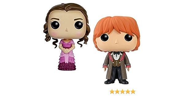 Funko POP! Harry Potter: Hermione Granger & Ron Weasley (Yule ...