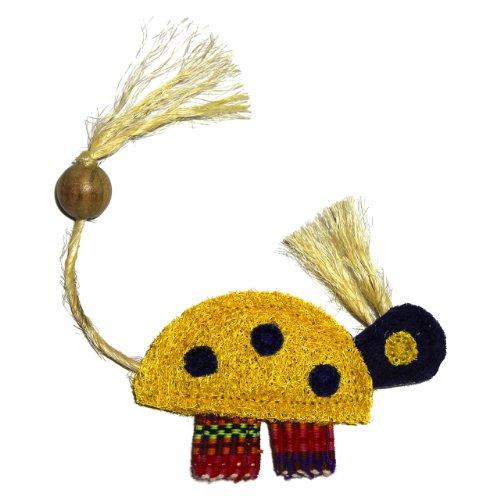 Eco-Loofah Ethnic Maka Tenuki Queen Turtle Cat Toy, Yellow